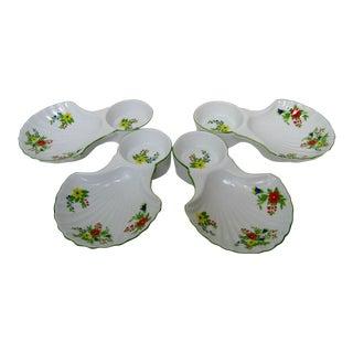 Vintage Porcelain Snack Plates, Set of 4 For Sale