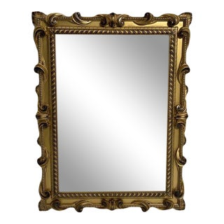 Gold Finish Contemporary Mirror Frame For Sale
