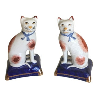 Staffordshire Cats - A Pair
