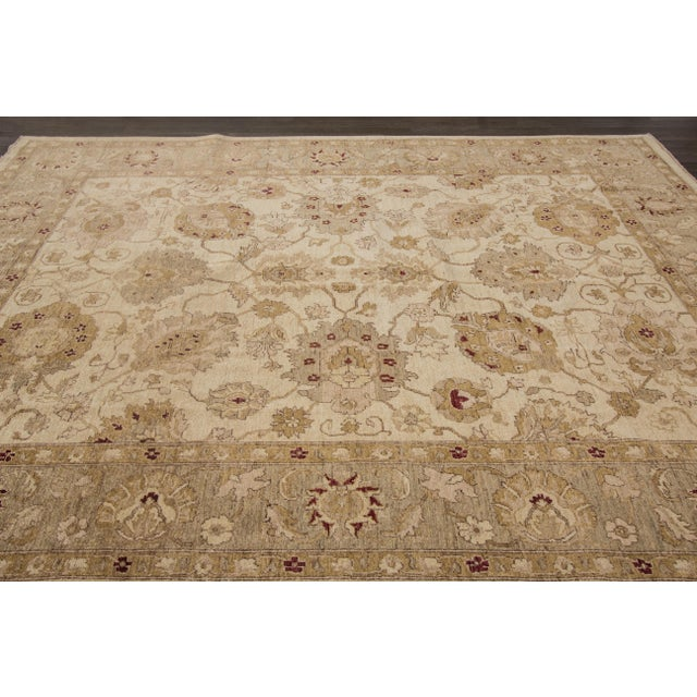 "Apadana Peshawar Rug - 7'11"" x 10' For Sale In New York - Image 6 of 7"
