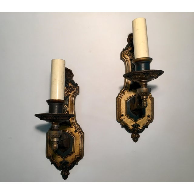 1930's French Style Single Light Sconces - a Pair For Sale - Image 11 of 11