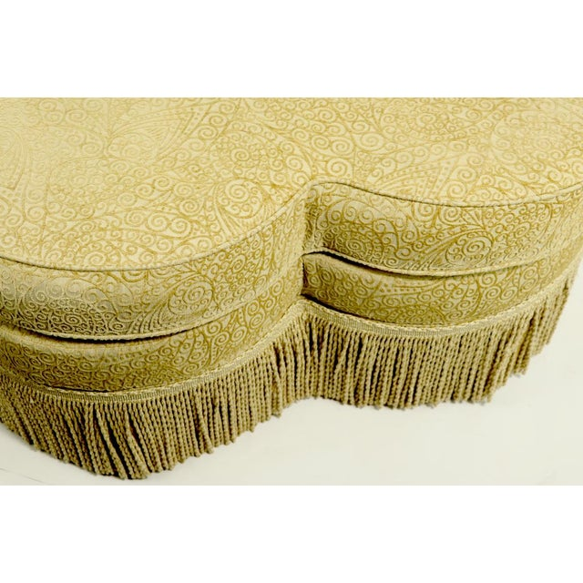 Tan Fringed Cloverleaf Ottoman by Hickory Furniture For Sale - Image 8 of 12