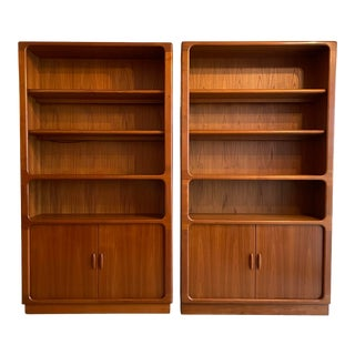 1960's Pair of Danish Modern Bookcases From Dyrlund For Sale