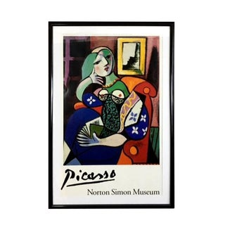 """1996 Norton Simon """"Picasso's Woman With a Book"""" Museum Poster For Sale"""