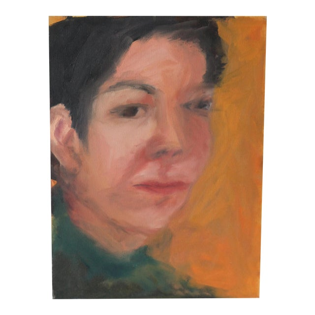 Portrait of a Woman Painting by Janet Mamon - Image 1 of 7