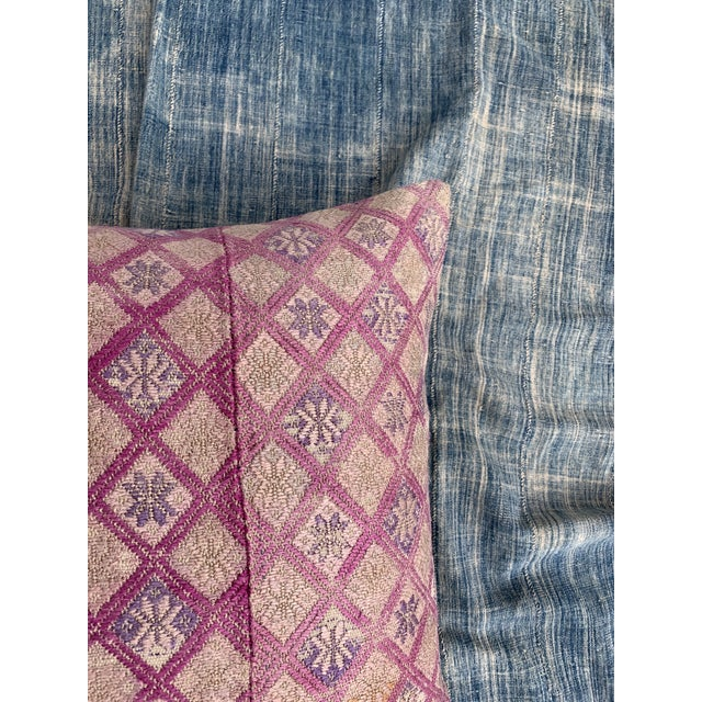 Antique Tribal Wedding Quilt Pillow For Sale In Los Angeles - Image 6 of 11