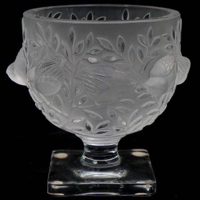 Transparent Lalique France Elizabeth Pedestal Footed Bowl For Sale - Image 8 of 8