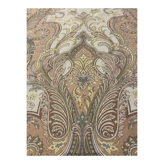 Brunchwig & Fils Balvenie Paisley Fabric in Aqua & Taupe - 6+ Yards For Sale