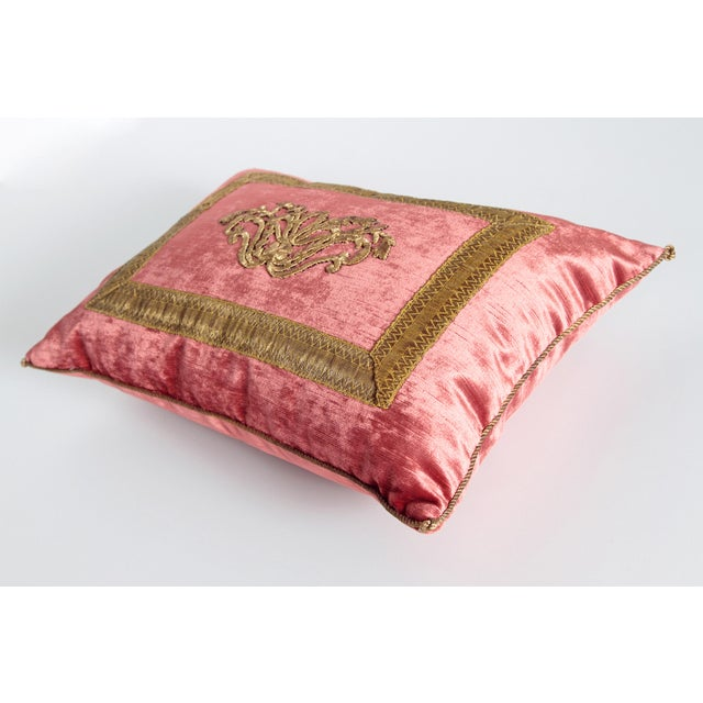 2010s Antique Embroidery Pillow by Rebecca Vizard For Sale - Image 5 of 8