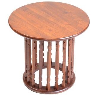 Solid Walnut Modern End Table in the Style of Arthur Umanoff For Sale