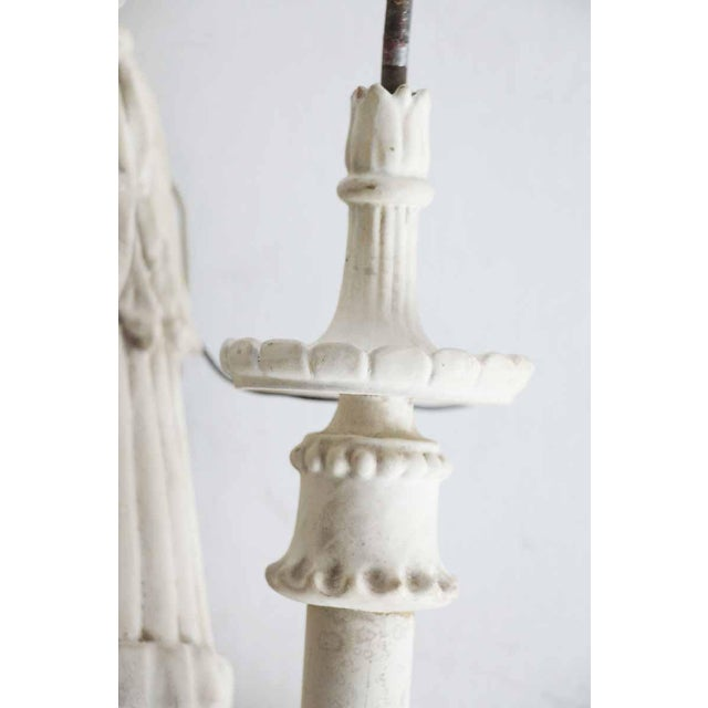 White Wood Sconces With Cornucopia Motif - A Pair For Sale - Image 5 of 11