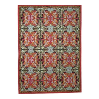 """Pasargad Aubusson Hand Woven Wool Rug - 8'11"""" x 12' 1"""""""