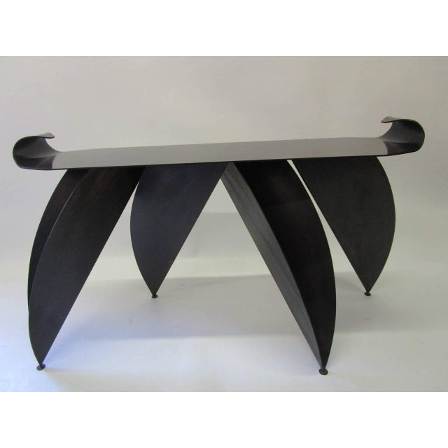 Steel Console Table with Sculptural Legs - Image 2 of 8