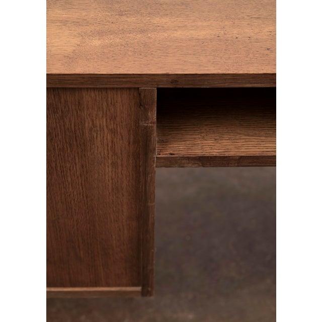 Handsome French Modernist Desk in Walnut, 1950s For Sale - Image 11 of 12