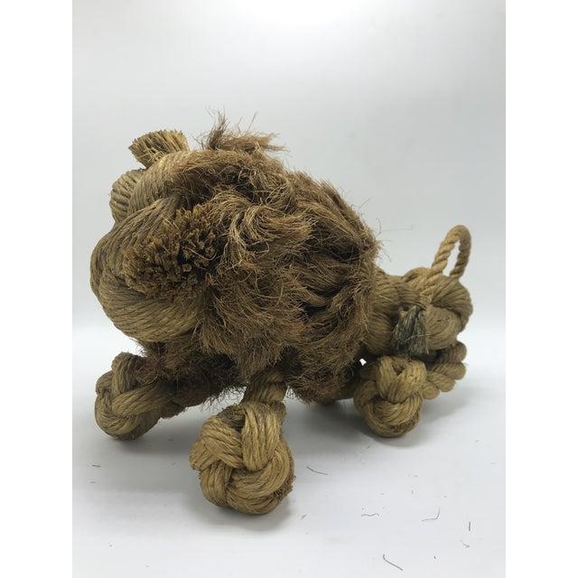 1960s Mid-Century Danish Braided Rope Lion For Sale - Image 13 of 13