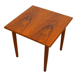 1960s Danish Modern Poul Hundevad for Fabian Teak Side Table For Sale