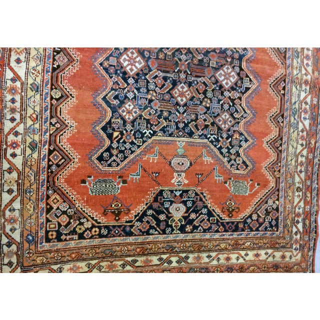 "1900s Handmade Antique Persian Mishan Malayer Rug - 4'9"" X 6' For Sale - Image 4 of 6"