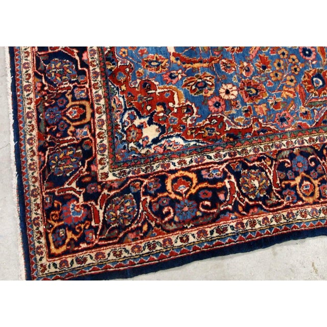 1900s, Handmade Antique Persian Kashan Rug 4.1' X 6.6' - 1b706 For Sale In New York - Image 6 of 12