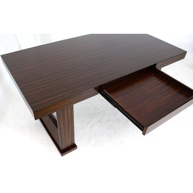 Mid-Century Modern Square Frame Legs Rosewood Mid-Century Modern Writing Table Desk For Sale - Image 3 of 9