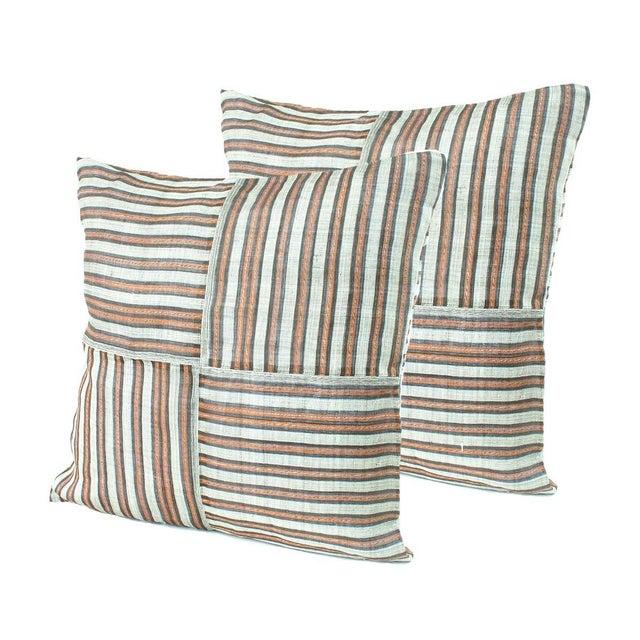 Striped Hinabol Pillows - Pair - Image 1 of 2