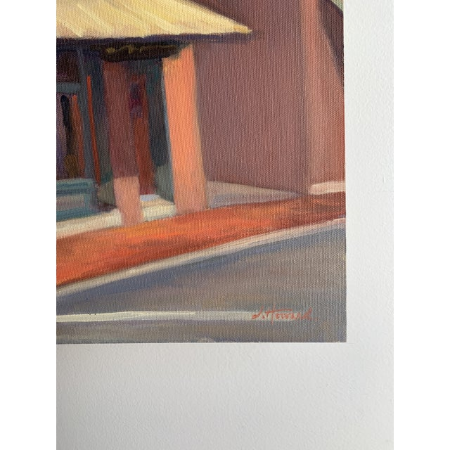"""""""Sidestreet Light"""" Contemporary Realist Architectural Street Scene Oil Painting For Sale - Image 4 of 5"""