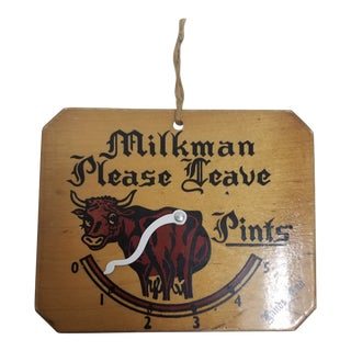 English Vintage Milkman's Sign For Sale