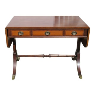 Regency Kittinger Mahogany Dropleaf Sofa Table For Sale