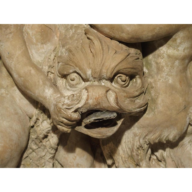 Antique French Terra Cotta Fountain Back, Circa 1860 For Sale - Image 4 of 13