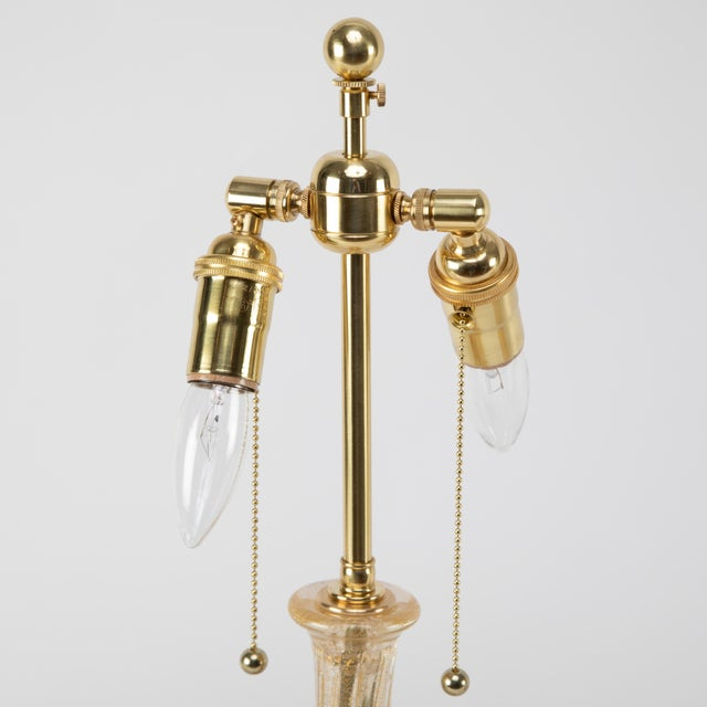 """1950s 1950's Vintage Barovier & Toso """"Cordonato D'Oro"""" Murano Table Lamps- A Pair For Sale - Image 5 of 13"""