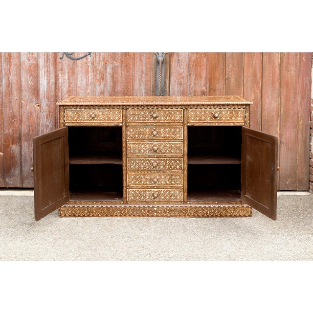 Anglo-Indian Majestic Bone Inlay Credenza For Sale - Image 3 of 9