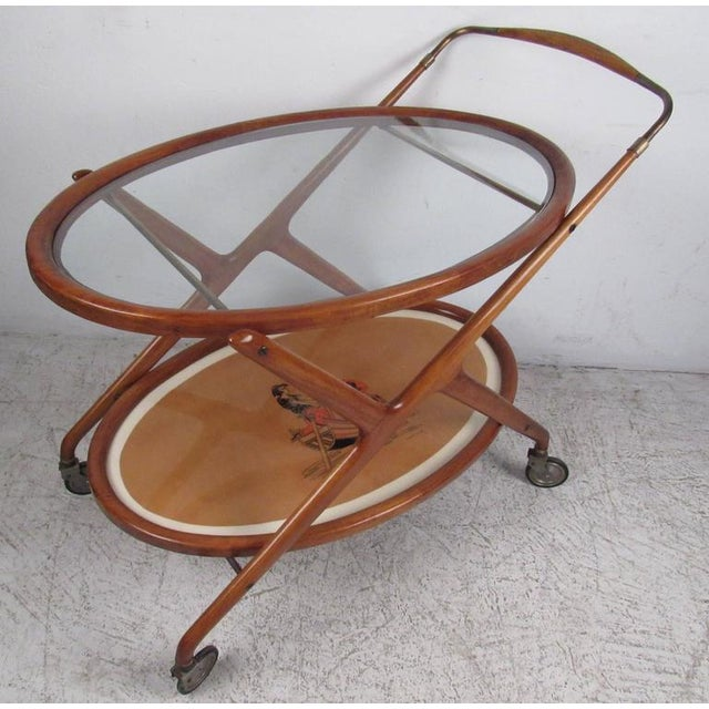 Italian Modern Serving Cart by Cesare Lacca For Sale - Image 9 of 9
