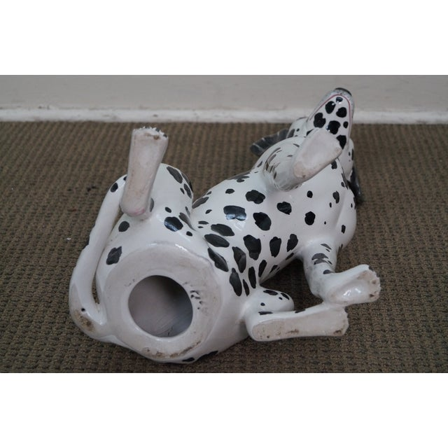 Vintage Italian Pottery Dalmatian Dog Statue For Sale - Image 9 of 10