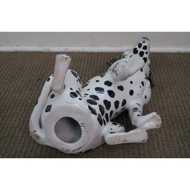 Vintage Italian Pottery Dalmatian Dog Statue - Image 9 of 10