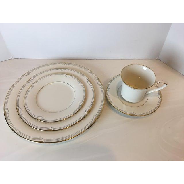 Ceramic Noritake Golden Cove Dinnerware - 64 Pc. Set For Sale - Image 7 of 11