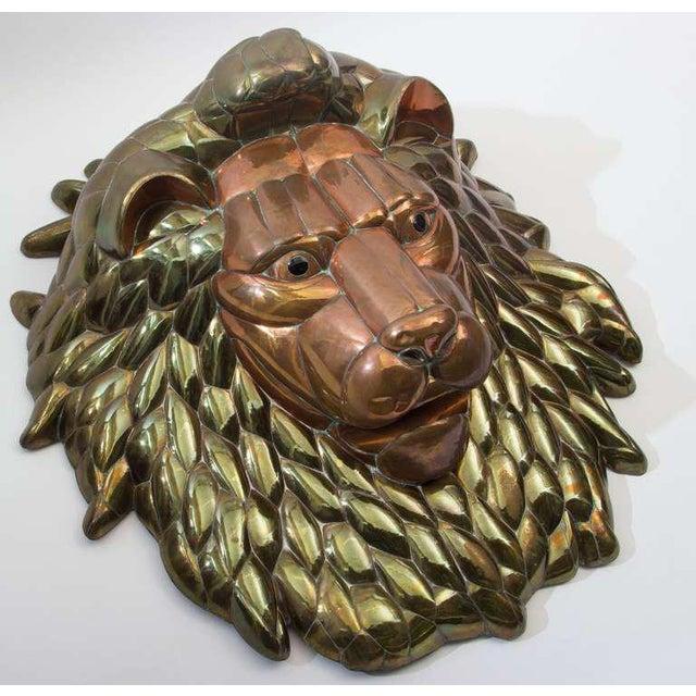 1980s Sergio Bustamante Lion Head - Image 2 of 5