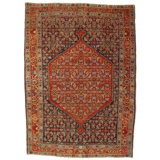 Late 19th Century Antique Persian Bidjar Rug - 3′11″ × 5′6″ For Sale