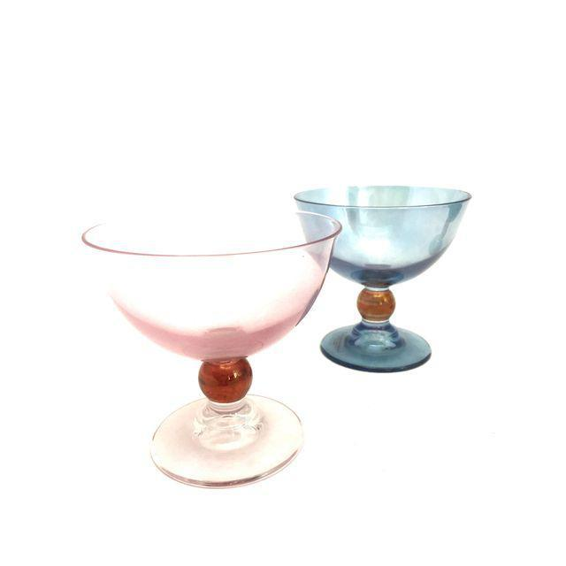 Blue & Pink Parfait Dishes - Set of 4 - Image 2 of 7