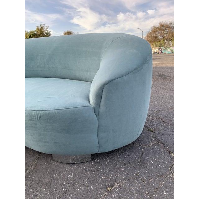 Vladimir Kagan 1980s Vintage Kagan Style Sofa For Sale - Image 4 of 13