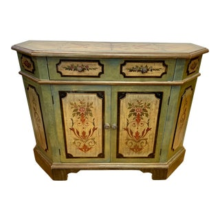 Hand Painted Console Cabinet Credenza Sideboard For Sale