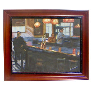 1980s California Bar Scene Painting For Sale