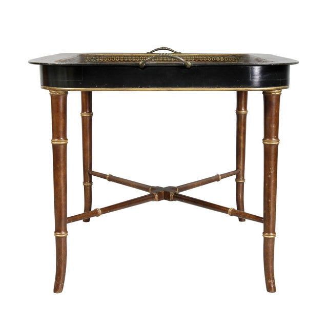 Regency Papier Mâché Tray Top Coffee Table For Sale In Boston - Image 6 of 13