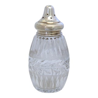 D. 1928 Sterling Silver & Cut Crystal Shaker For Sale