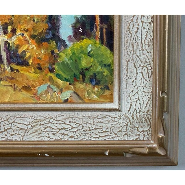 Green Oil Painting by California Plein Air Painter Joane Cromwell For Sale - Image 8 of 10