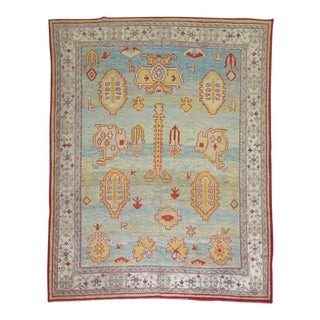 Antique Turkish Oushak Rug, 8'1'' X 9'8''