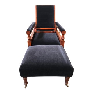 Ralph Lauren Home Norfolk Chair and Ottoman For Sale