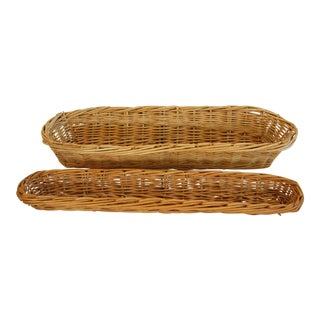 Vintage French Baker Bread Baskets - A Pair For Sale