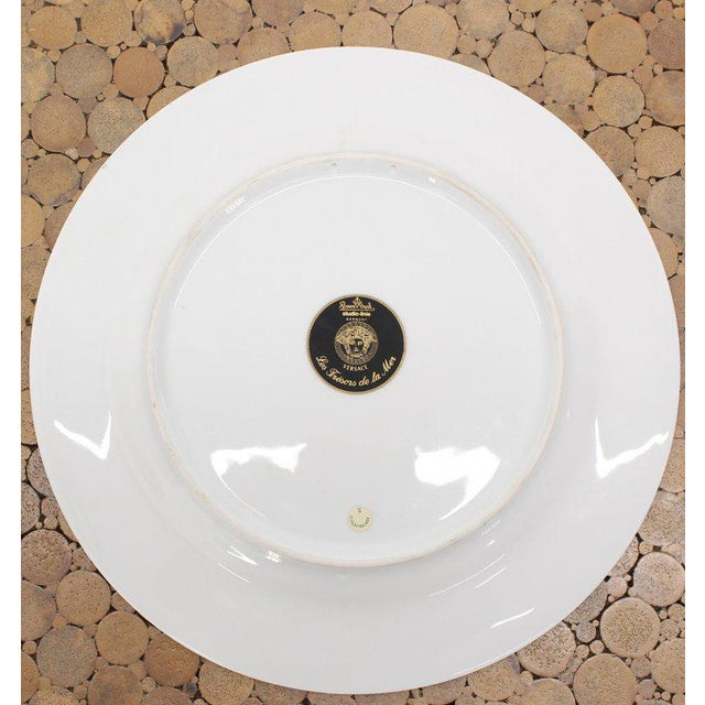 Mid-Century Modern Rosenthal Versace Porcelain Charger Plate For Sale - Image 3 of 7