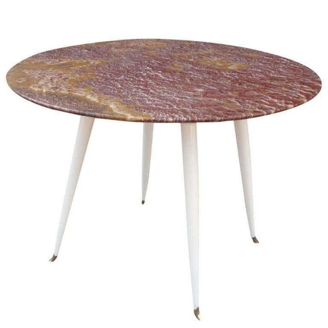 Stone Red Marble Foyer Table, Attributed to Osvaldo Borsani For Sale - Image 7 of 7