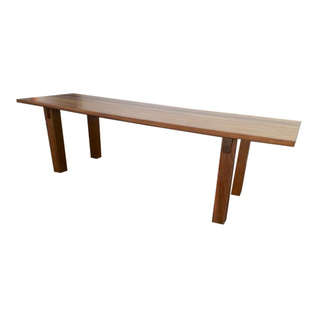"Charlotte Perriand Mahogany Long Dining Table Model ""Brazil"" Stamped Ed Sentou For Sale"