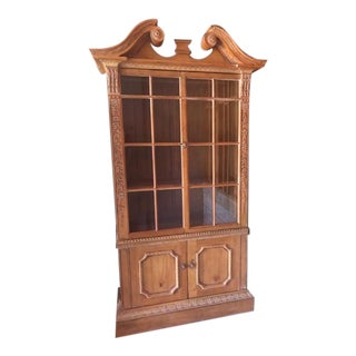 """Broken Pediment"" Style China Cabinet For Sale"